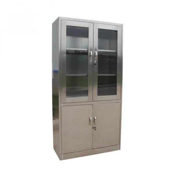 Jual Lemari Kaca 2 Pintu Atas Stainless Cabinet Pusat Clean Room