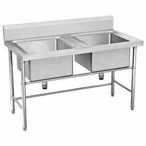 Jual kitchen Sink Stainless Double Bowl