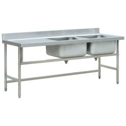 Jual Sink Stainless Double Bowl table side